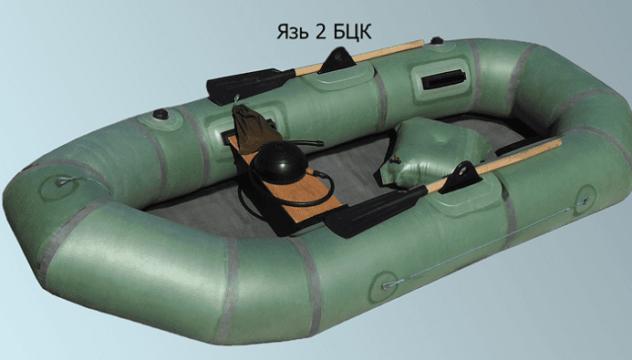 двухместная резиновая лодка язь-2